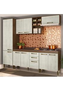 Cozinha Compacta Viena 10 Pt 2 Gv Marrom E Gelo