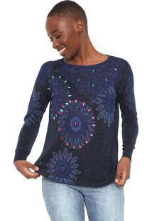 Suéter Desigual Tricot Holly Azul-Marinho