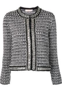 Tory Burch Embellished Tweed Jacket - Preto