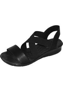 Sandália Malu Super Comfort Cléo Preto