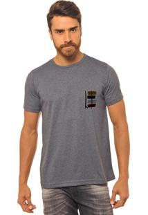 Camiseta Chumbo Estampada Masculina Joss - F Prancha Guache