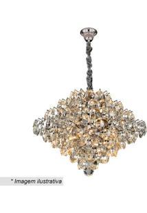 Lustre Diamond- Cristal & Prateado- 37X40X40Cm- Hevvy