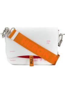 Heron Preston Bolsa Transversal Com Logo - Branco