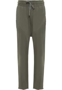 Calça Masculina Casual Recortada - Verde