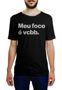 Camiseta Hunter Meu Foco É Vcbb Preta