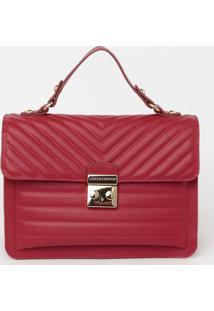 Bolsa Com Bolso & Bag Charm - Vermelha - 20X24X12Cmloucos E Santos