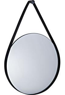 Espelho Redondo- Espelhado & Preto- 77X50X5Cm- Mmart