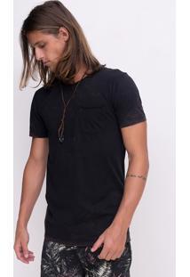 Camiseta Marmorizada Com Bolso