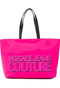 Versace Jeans Couture Logo Print Shopper Tote - Rosa