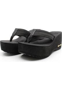 Tamanco Plataforma Anabela Feminino Barth Shoes Hibisco - Feminino-Preto
