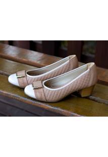 Sapato Cap Toe Dm Extra Matelasse Bege Dme18383194D Numeração Especial 41 42 43