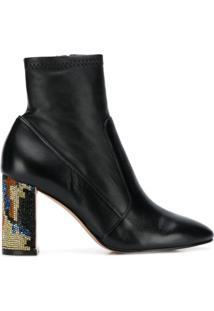 Sophia Webster Ankle Boot Com Aplicações - Preto