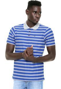 Camisa Polo Hurley Lido Cinza/Azul
