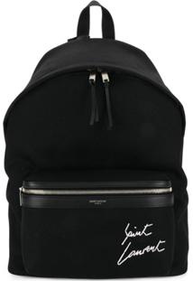Saint Laurent City Backpack - Preto