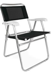 Cadeira Master Alumínio Tela Sannet - Unissex-Preto