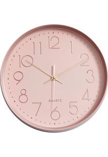 Relógio De Parede 30Cm Rosa