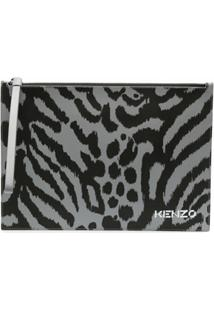 Kenzo Carteira X Kansai Yamamoto Com Estampa De Leopardo - Cinza