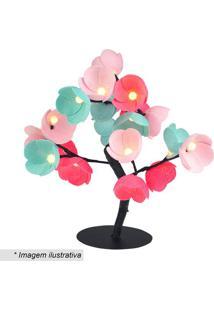 Luminária Árvore Luz De Fada Babaloo- Verde Água & Rosa