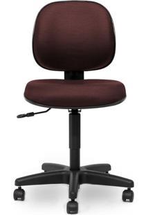 Cadeira Executiva Giratória Sem Braço - Bordô/Preto - Móveis Belo