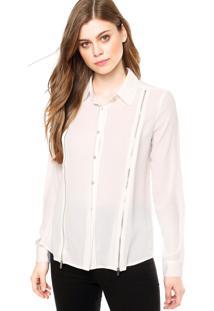 Camisa Manga Longa Ellus Zíper Branca