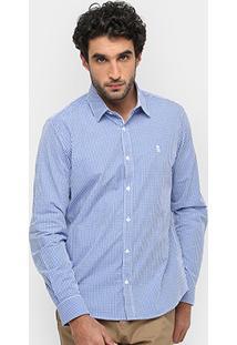 Camisa Xadrez Sergio K Quadriculada Regular Fit Masculina - Masculino