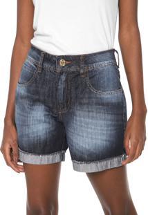 Bermuda Jeans Colcci Reta Daria 2 Azul-Marinho