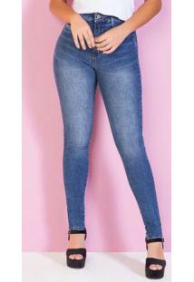 Calça Jeans Super Lipo Com Cinta Modeladora