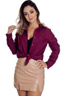 94cbbd2d43 Camisa Rosa Vinho feminina
