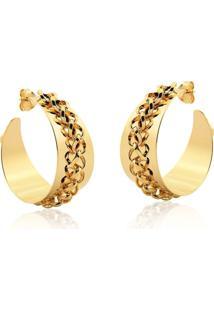 Brinco Argola Le Diamond Correntes Dourada