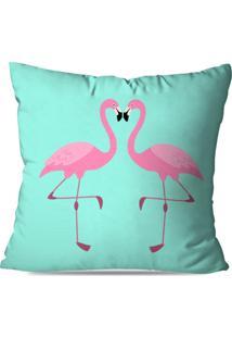 Capa De Almofada Love Decor Flamingos Love Multicolorido Azul - Kanui