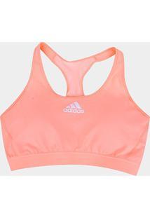 Top Bojo Removível Adidas Don'T Rest Padded Plus Size Média Sustentação - Feminino-Laranja