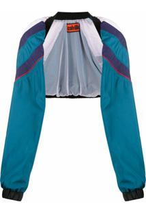 Colville Sleeve Design Bomber Jacket - Azul
