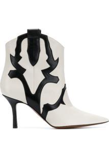 Marc Ellis Western Ankle Boots - Branco