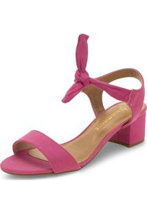 Sandália Feminina Salto Baixo Via Marte - 199009 Pink 34