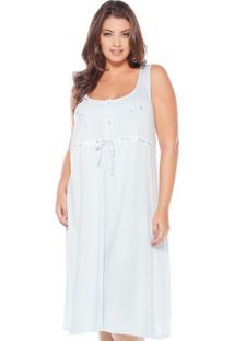 Camisola Regata Bordado Feminina Plus Size