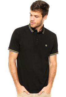 Camisa Polo Timberland Bordado Preta