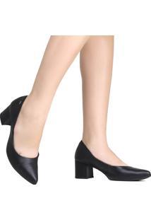 Sapato Scarpin Dakota Em Couro Preto