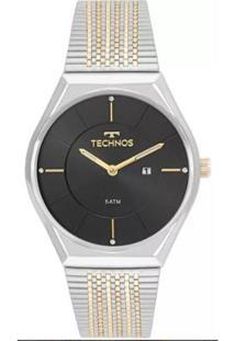 8b9c509a649 Zattini. Relógio Dourado Feminino Unissex Technos Inox Vidro ...