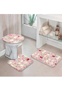 Jogo Tapetes Para Banheiro Premium Easter
