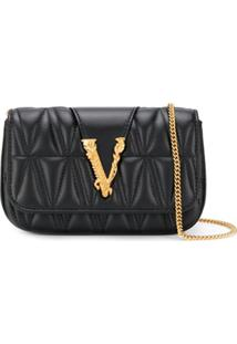 Versace Logo Plaque Mini Cross Body Bag - Preto