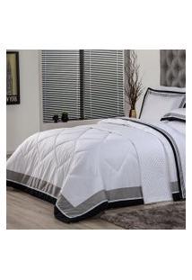 Edredom Casal Plumasul Soft Comfort 220X240Cm Microfibra Branco
