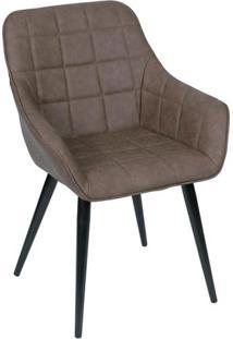 Cadeira Provence- Café & Preta- 84X50X42,5Cm- Oror Design