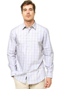 Camisa Perry Ellis Xadrez Azul/Branco