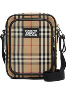 Burberry Bolsa Transversal Com Vintage Check - Neutro