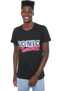 Camiseta Tectoy Sonic The Hedgehog Authentic Preta