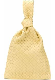 Bottega Veneta Clutch Bv Twist Com Trama Intrecciato - Amarelo