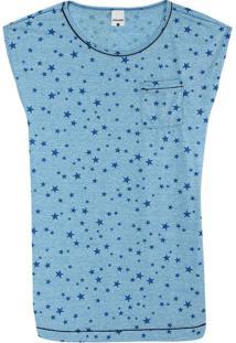 Camisola Azul Estrelas Anti Odor