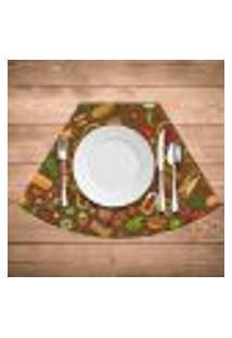 Jogo Americano Para Mesa Redonda Wevans Mexican Cuisine Kit Com 4 Pçs