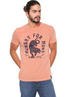 Camiseta Ellus Estampada Coral