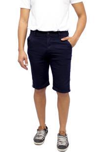 Bermuda Premier Jeans Com Faixa Na Lateral Azul